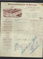 Facture 27/8/1915Ets G ROUZEE Rue Folie Régnault & Passage René PARIS - Appareils Cuisine Sanitaie, Cuivrerie éclairage - 1900 – 1949
