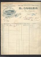 Facture 30/8/1902 G SOHIER Rue Lafayette PARIS - Usine à Vapeur Station Aubervilliers La Courneuve - 1900 – 1949