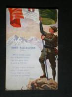 Inno All'alpino; Carte Patriotique à La Gloire Des Chasseurs Alpins Italiens - Patriotiques