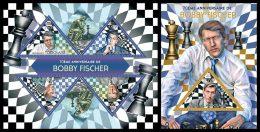 TOGO 2013 - Bobby Fischer, Chess - YT 3300-3 + BF685; CV = 32 € - Schaken