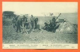 """1914 -15  En Champagne """"  Un Terrain D'atterrisage Pour Une Escadrille D'aviation """" - Guerra 1914-18"""