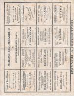 BUVARD  SENNECEY LE GRAND 21.5 X 27.7 MAISONS RECOMMANDEES COMMERCES  TRES RARE !!! - Colecciones & Series
