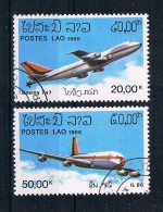 Laos 1986 Flugzeuge Mi.Nr. 920/21 Kpl. Satz Gestempelt - Laos