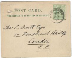 GB - Regno Unito - GREAT BRITAIN - UK - 1905 - Halfpenny - Carte Postale - Postal Card - Intero Postale - Entier Post... - Storia Postale