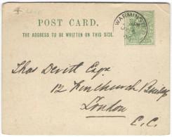 GB - Regno Unito - GREAT BRITAIN - UK - 1906 - Halfpenny - Carte Postale - Postal Card - Intero Postale - Entier Post... - Storia Postale