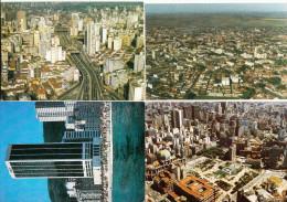 4 Postcards : BRASIL ; 2x Sao Paulo, Patos De Minas, Rio De Janeiro - (1990) - Andere