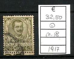 1917 LIBIA EFFIGE 45c   Usato - Libia