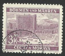 Bohemia & Moravia, 3 K. 1939, Sc # 35, Mi # 33, Used - Used Stamps