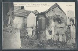 - CPA 77 - Monthyon, Maisons Incendiées Par Les Allemands - Autres Communes