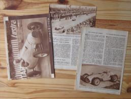 Sport Course Automobile - Dossier Année 1949 / Rosier Ascari Fangio 24 Heures Du Mans Chinetti Chiron Etc ... / VP 146/3 - Vieux Papiers