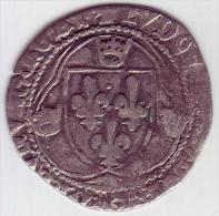 LOUIS XI - Blanc Aux Couronnelles - 1461-1483 Louis XI Le Prudent