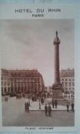 PARIS  Hotel Du RHIN   Place Vendome - Cafés, Hotels, Restaurants