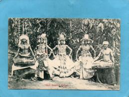 CEYLON-Devil Dancers-gros Plan De Danseurs Et Musiciens En Forêt-a Voyagé En1905- - Sri Lanka (Ceylon)