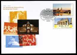 33774) BRD - Ganzsache Michel USo ? - OO Gestempelt EVST Ausgabe 5.2.2015 - 17C Unter 45C Panorama Dresden, Sempoper - [7] Federal Republic