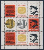 DDR Briefmarkenausstellung 25 Jahre DKB Deutscher Kulturbund 1970 / einmal gehangen