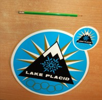 Vintage 1980 Lake Placid Olympic Snowcap Mountain Stickers Decals - Stickers