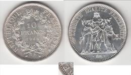 """VARIETE ****  10 FRANCS HERCULE 1968 AVEC ACCENT OU POINT SUR LE """"E"""" DE REPUBLIQUE - ARGENT **** EN ACHAT IMMEDIAT - K. 10 Francs"""