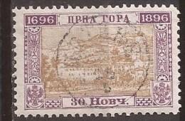 1897  22-33 C  MONTENEGRO CRNA GORA  200 JAHR FUERSTENTUM  PERF-  11 1-2     USED - Montenegro