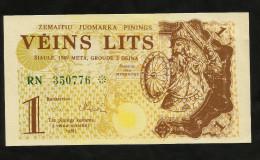 [NC] LITHUANIA - 1 LITS (1989) - COUPON - Lituania