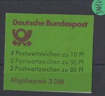 BRD  Markenheft  Postfrisch  MH- MiNr. 24 IK1 - Blocchi