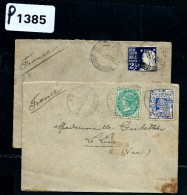AUSTRALIE-NEW SOUTH WALES  2 LETTRES  POUR LA FRANCE   1911 A VOIR  POUR AMATEUR - Briefe U. Dokumente