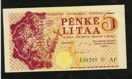 [NC] LITHUANIA - 5 LITAA (1989) - COUPON - Lituania