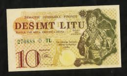 [NC] LITHUANIA - 10 LITU (1989) - COUPON - Lituania