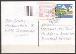 Schweiz , Ganzsache , Postkarte , 1998 , Mit Zusatzfrankatur ATM - Stamped Stationery