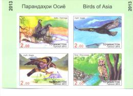2013. Tajikistan, Birds Of Asia, 4v Imperforated In Block, Mint/** - Tadschikistan