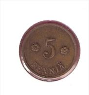 FINLAND 5 PENNIA 1938  KM22 - Finlande