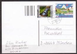 Schweiz , Ganzsache , Postkarte , 1998 , Mit Zusatzfrankatur Mi. Nr, 1804 - Stamped Stationery