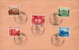 ALLEMAGNE Hitler Et Mussolini  - Foire De Leipzig1941 N°687-91 - Germany