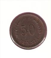 FINLAND 50 PENNIA 1941 KM26A - Finlande