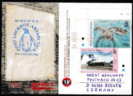 ANTARCTIC,BAT,color-card ,PORT LOCKROY, 1.2.2010,  Cachet , ,look Scan !! 27.1.20 - Antarctische Expedities