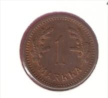 FINLAND 1 MARKKA 1941 KM30A - Finlande