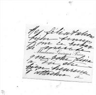 Madame Georges Price.Carton Autographe Signé  .envoi à Claude Gével. - Autographs