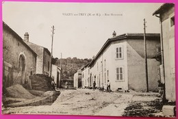 Cpa Vilcey Sur Trey Rue Montante Carte Postale 54 Lorraine Proche Villers Sous Prény Vandières - Autres Communes