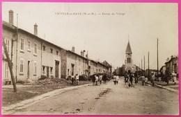 Cpa Viéville En Haye Entrée Du Village Carte Postale 54 Lorraine Proche Villers Sous Prény Vandières - Autres Communes