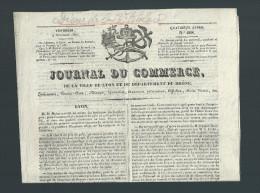 Journal Du Commerce De La Ville De LYON Et Du Département Du Rhône N° 608 9 Novembre 1827 - 1800 - 1849