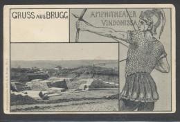 8523-GRUSS AUS BRUGG-AMPHITHEATER VINDONISSA-FP - Souvenir De...