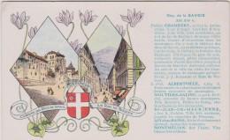 Carte  Géographique  Par Les  Pastilles Valda : Savoie : Chambéry , Alberville,moutiers, Aix Les  Bains  ,etc.. - France