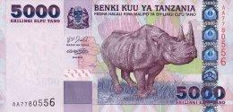 Tanzania 5000 Shillings 2003 Pick 38 UNC - Tanzania
