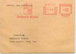 Nederlands Gemeente Winkel Laatste Dag Envelope 31 VII 70 - Machine Stamps (ATM)