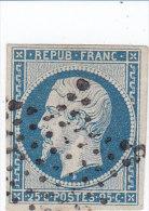 France  Napoléon République N 10, 25 C Bleu Obl étoile Muette TB - 1852 Louis-Napoléon