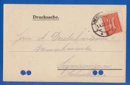 Deutschland; DR MiNr. 163; 1922; Drucksache Zementfabrik Heidelberg - Briefe U. Dokumente