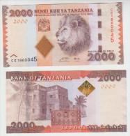 Tanzania 2000 Shillings 2010 Pick 42 UNC - Tanzania