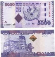 Tanzania 5000 Shillings 2010 Pick 43 UNC - Tanzanie