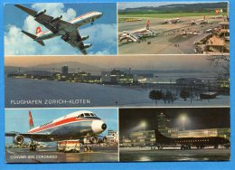 Mans1101, Zürich Kloten Airport, Convair 990 Coronado, Swiss, 300, GF, Non Circulée - Sin Clasificación