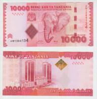Tanzania 10000 Shillings 2010 Pick 44 UNC - Tanzania