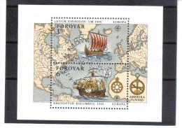 BIN527  FÄRÖER INSELN 1992  Michl  BLOCK 5  Used / Gestempelt - Färöer Inseln